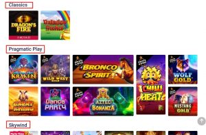 Party Slots Section
