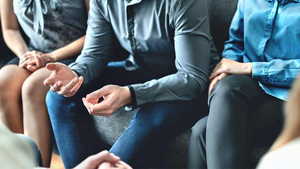 Group therapy session for gambling addiction