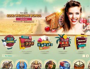 777 Casino Games Lobby