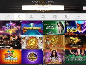 Casino Cruise Games Lobby