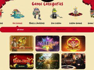 Casoola Casino games lobby