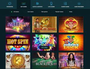 Spela Casino game lobby