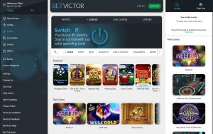BetVictor Casino game lobby