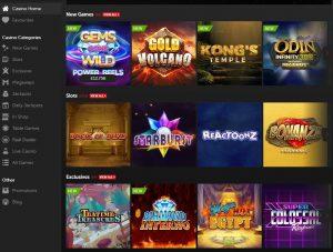 Betsafe Casino game lobby