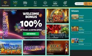 Billion Casino game lobby