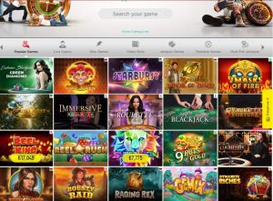 Spinit Casino game lobby